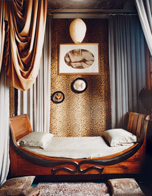 leopard upholserty wall