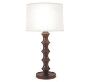 wooden library table lamp