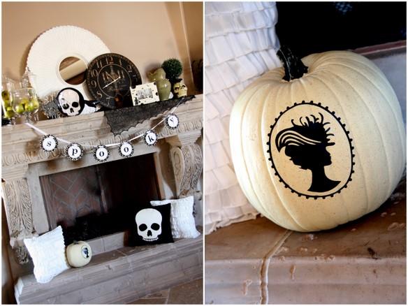 glamorous pumpkin jack-o-lantern design