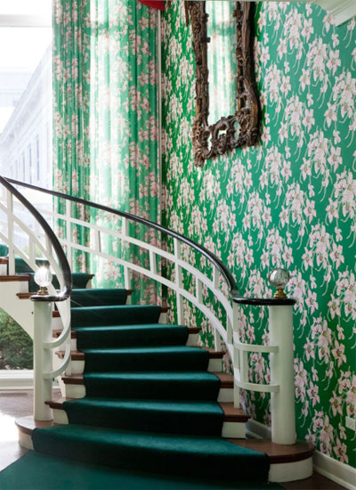 winding staircase old fashion elegance