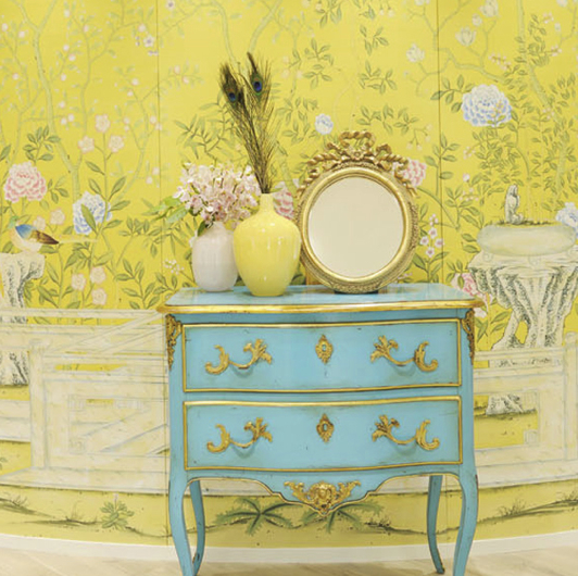 Exotic taste style theories - Yellow wall interior design ...