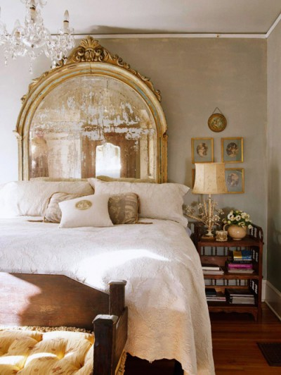 gold mirrored vintage headboard rococo glamour