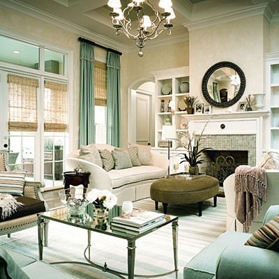 neutral green interior design