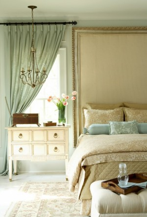 seafoam green interior design drapes