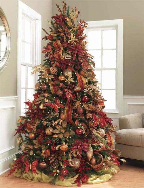 Country christmas tree decor