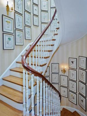 wall art hallway staircase