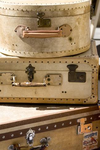 decorative vintage suitcases