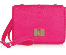 python shoulder bag neon fluorescent