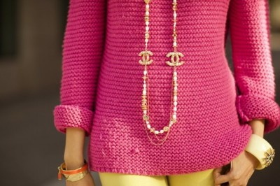 chanel fashion couture fluorescent