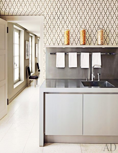 Graphic designs style theories for Grey kitchen wallpaper