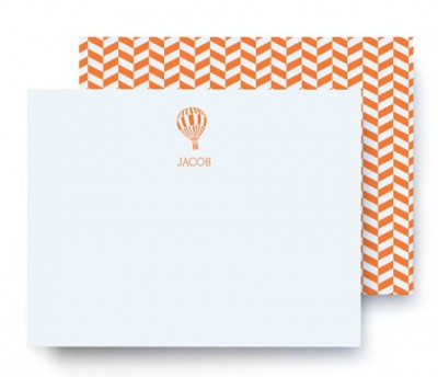 orange and white zig zag air balloon