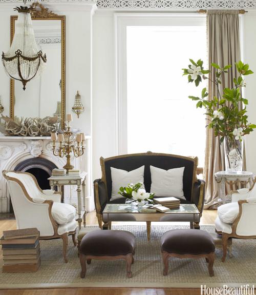 living room settee. lavender interior design Vintage Interior Design  style theories