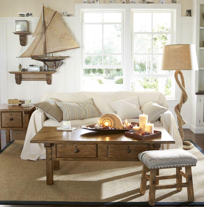 Nautical rope decor style theories - Nautical theme living room ...