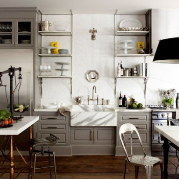 grey kitchen cabinets white and grey marble