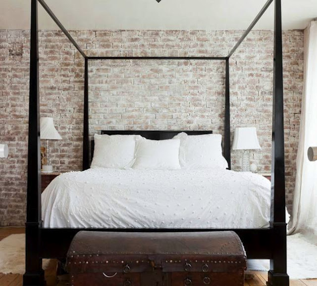 Exposed brick style theories for White exposed brick wall