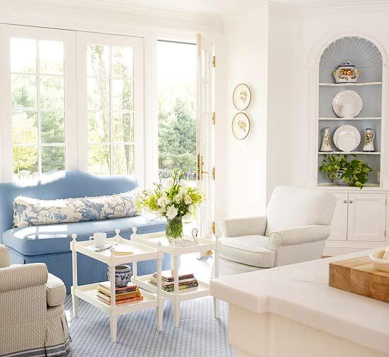 Blue Interior Design: Cornflower Blue Interior Design