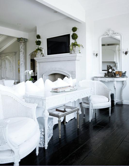 Dark Hardwood Floor Interior Design 532 x 683