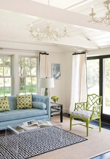 blue and green interior design style theories blog