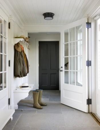 miles redd mud room boots stone floor hooks wood plank ceiling cococozy